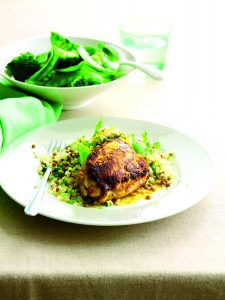 Curried chicken with couscous