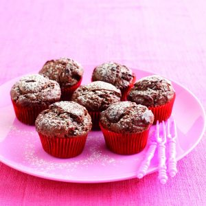 Double-chocolate mini-muffins