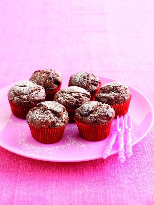 Double-chocolate mini-muffins