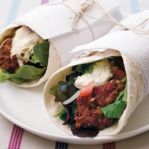 Easy bean burritos