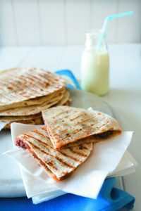 Easy beef and bean quesadillas