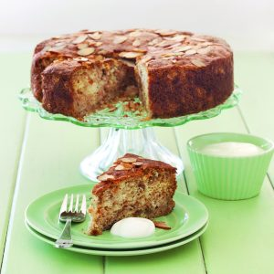 Feijoa and almond cake