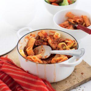 Fennel, tomato and sausage rigatoni