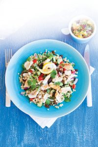 Fish with tropical salsa