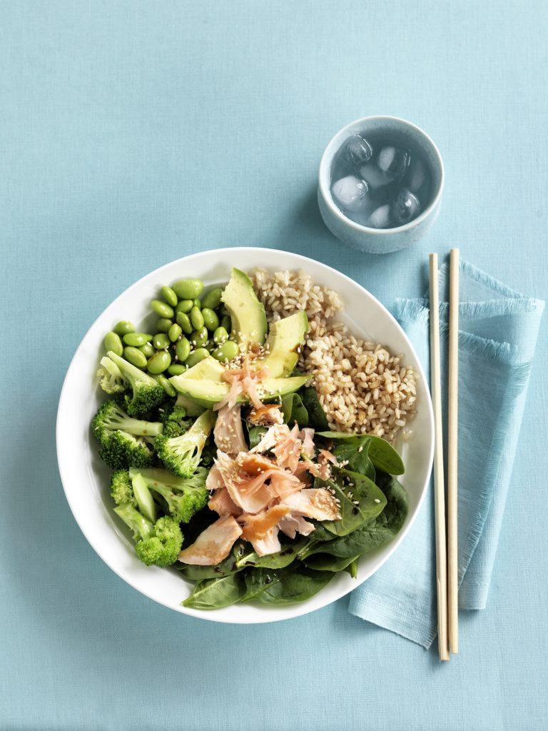 Fish sushi bowl