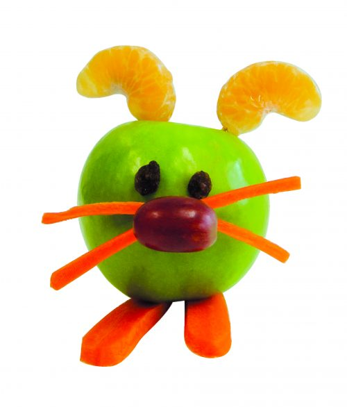 Food craft: Fruit bunnies