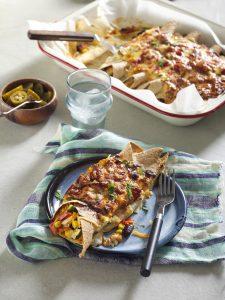 Freezer-friendly chicken enchiladas