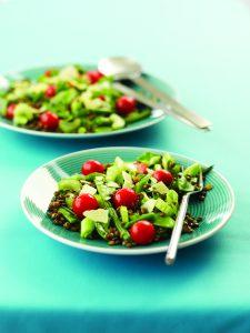 Fresh bean and lentil salad