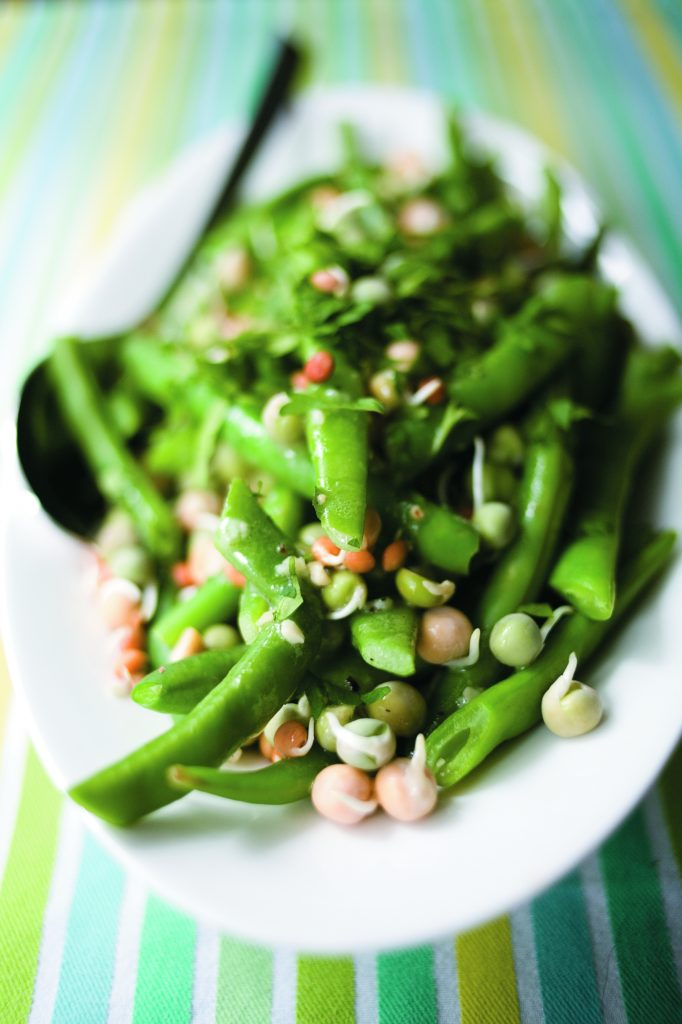 Fresh bean salad with zingy lemon dressing
