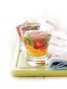 Fruity chocolate trifle