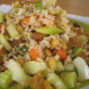 Fruity rice salad