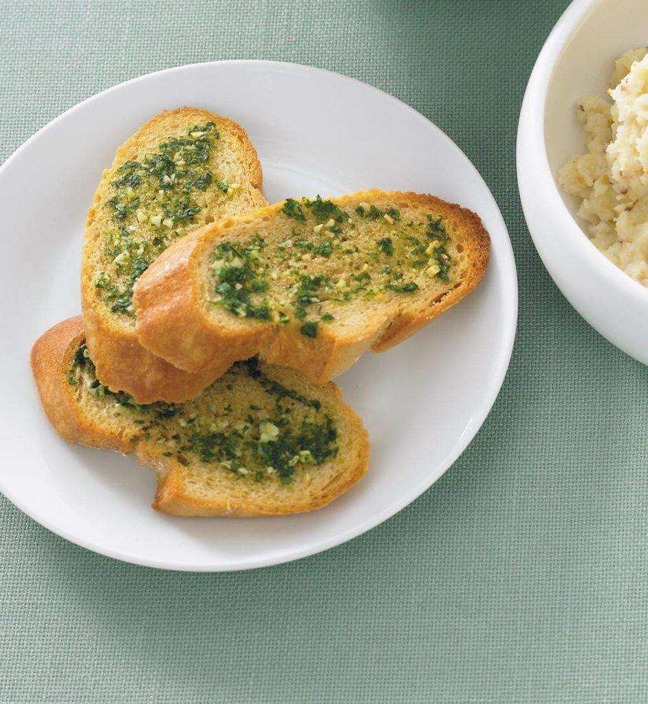Healthy garlic bread