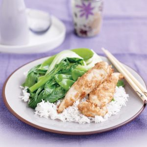 Ginger-lime chicken with Asian greens