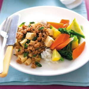 Ginger pork and tofu