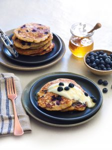 Gluten-free quinoa and lemon pancakes
