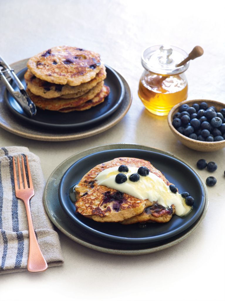 Gluten-free quinoa and lemon pancakes