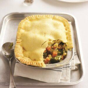 Gluten-free vege pie