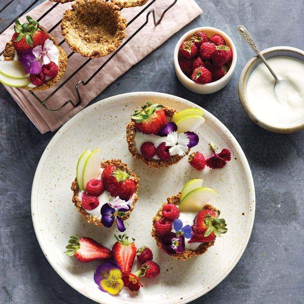 Granola bowls with fruity yoghurt