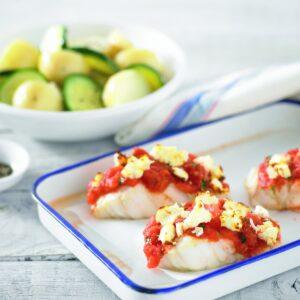 Greek-style fish fillets