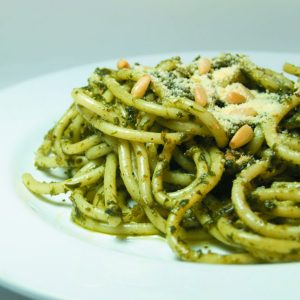Green tomato pasta