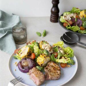 Grilled lamb salad