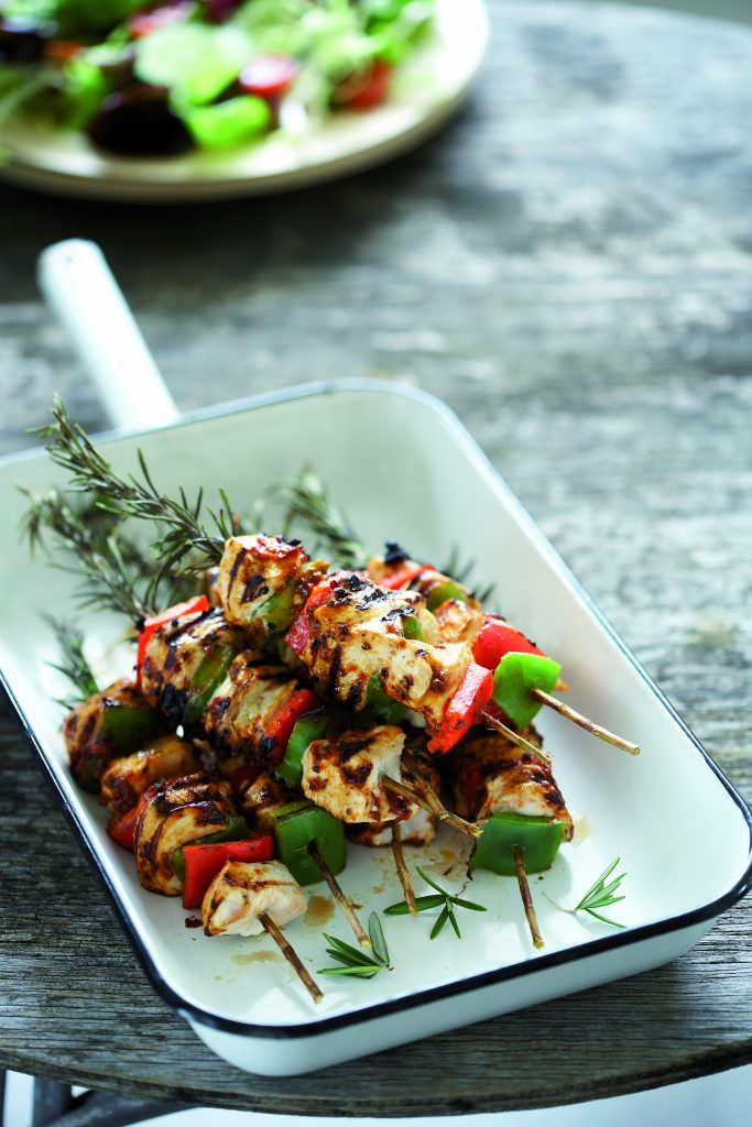 Grilled Chicken On Rosemary Skewers Healthy Food Guide