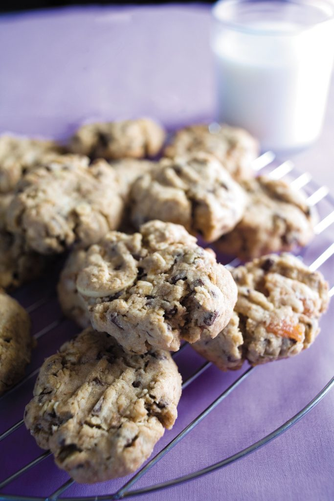 HFG chocolate chip biscuits with apricots and nuts