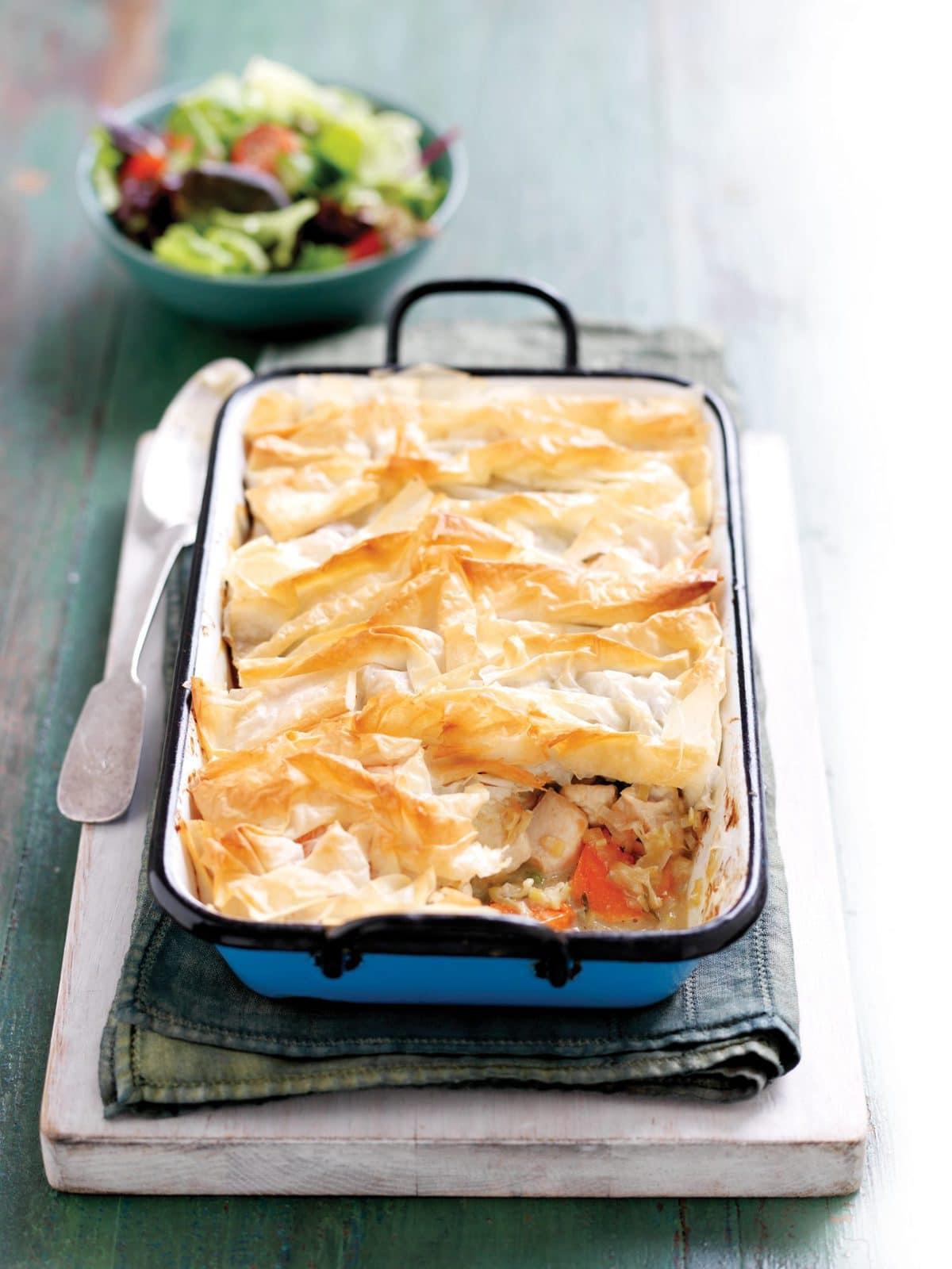 HFG creamy chicken and leek pie