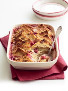 HFG red berry bread and butter pudding