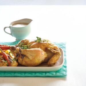 HFG reduced-fat roast chicken dinner