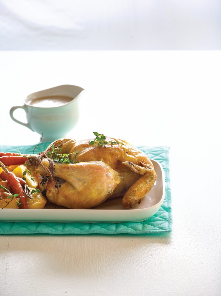 HFG reduced-fat roast chicken dinner