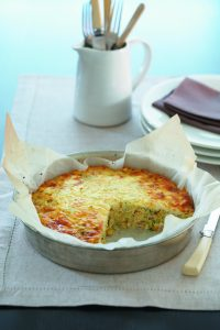 Ham and vegetable frittata