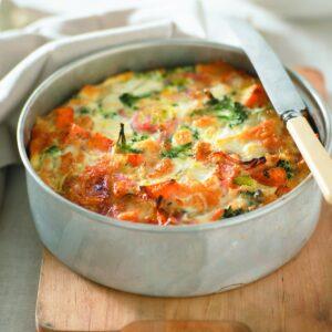 Ham, broccoli and kumara frittata