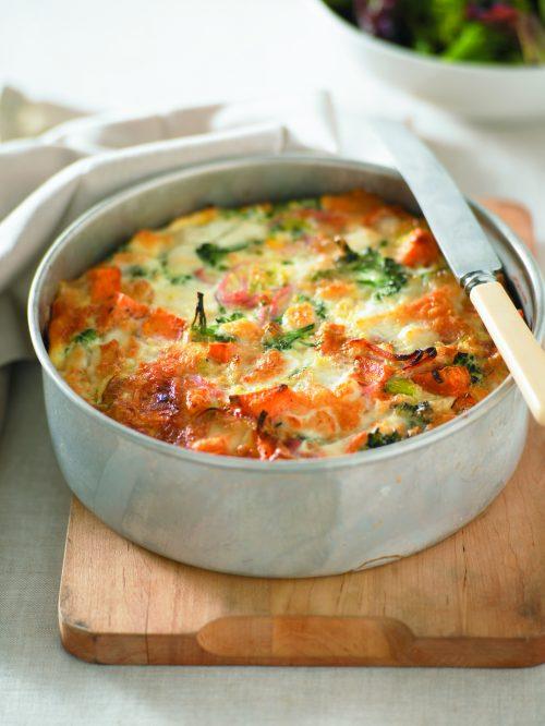 Kumara, rocket and asparagus frittata | Healthy Food Guide