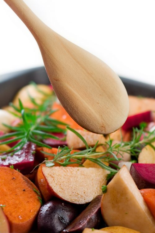 Healthy roast vegetables