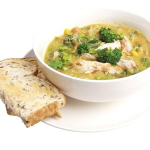 Hearty chicken and vege soup