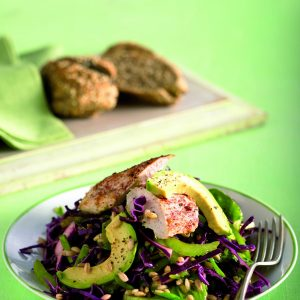 Hearty chicken and avocado salad