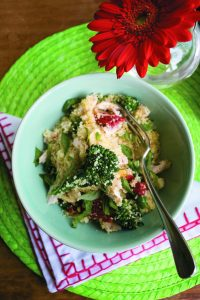 Herbed chicken with lemon couscous