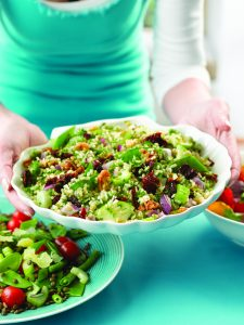 Herby green rice salad