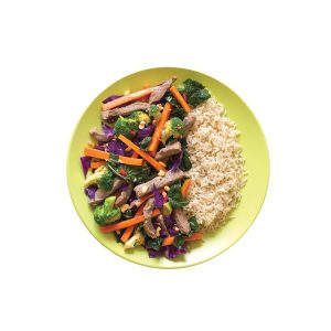 Hoisin beef and vege stir-fry