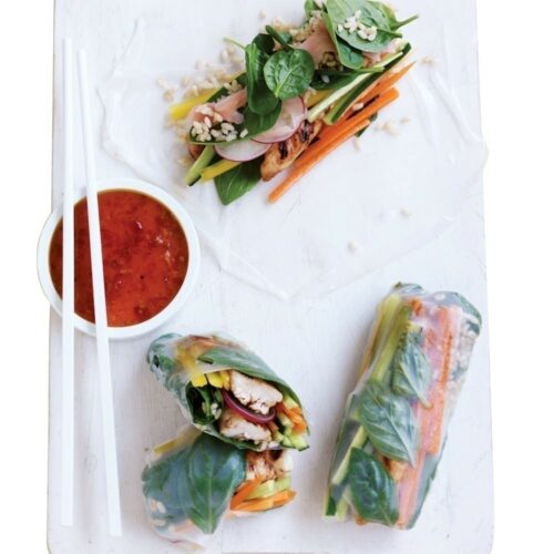 Hoisin chicken rolls
