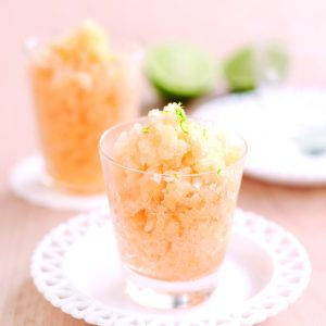 Honeydew and lime granita