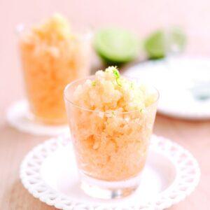 Honeydew and lime granita