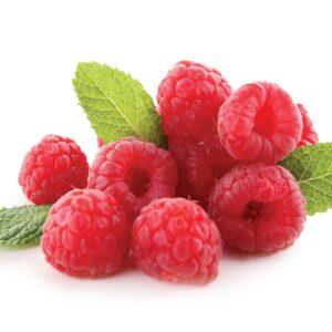In season early summer: Raspberries