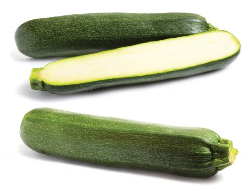 In season late summer: Courgettes