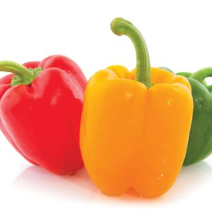 In season mid-summer: Capsicums
