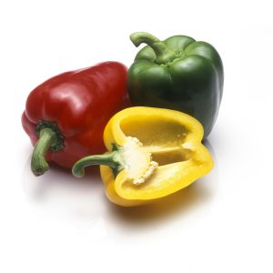 In season early autumn: Capsicums