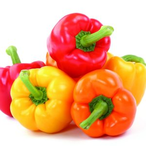 In season mid-autumn: Capsicums