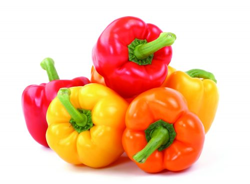 In season April: Capsicums