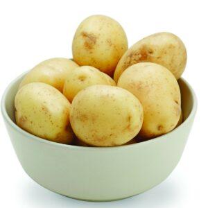 In season early summer: New potatoes